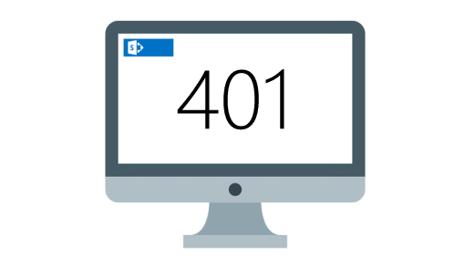 How to fix 401 error after applying a custom master page to