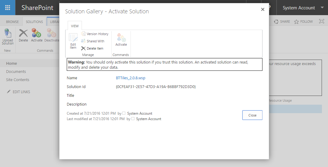 Enable Sandbox solutions on SharePoint 2016 | HANDS ON SharePoint