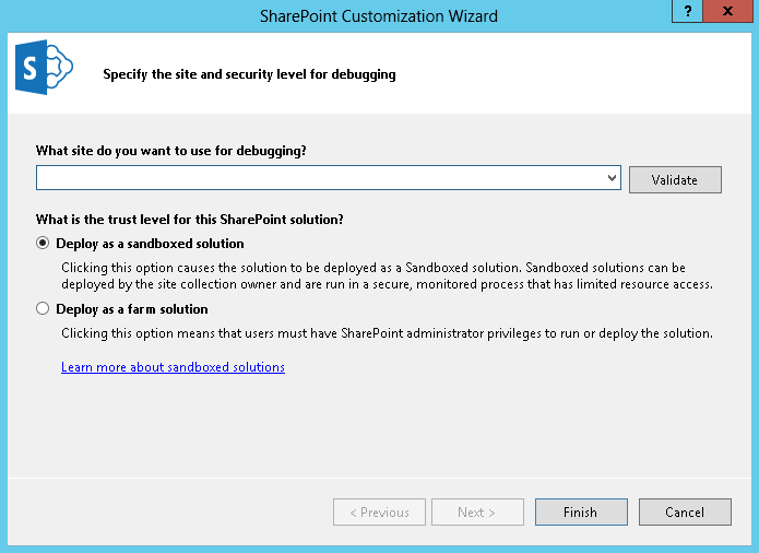 SharePoint Customisation Wizard