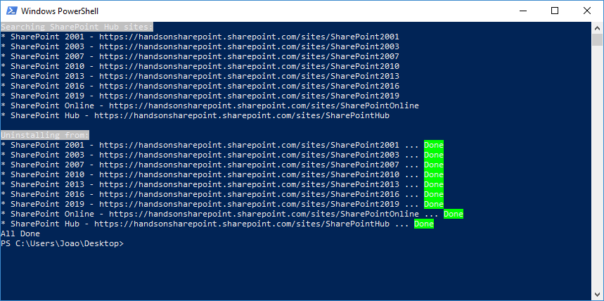Apply SPFx extensions to SharePoint Hub Sites using PnP PowerShell