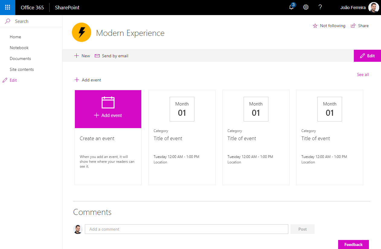 Change the color of SharePoint modern experience automatically