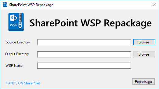 SharePoint WSP Repackage