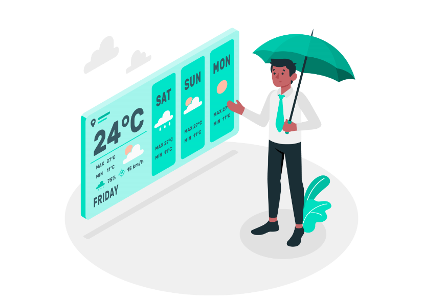 How to build a weather web part for SharePoint using a list view formatting